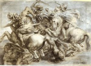 La battaglia di Anghiari (Leonardo Da Vinci, 1503 - Paul Rubens, 1603)