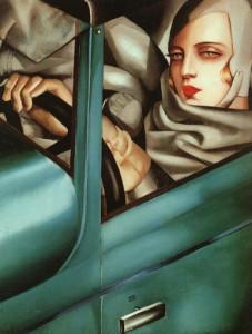 Autoritratto sulla Bugatti verde (Tamara De Lempicka, 1929)