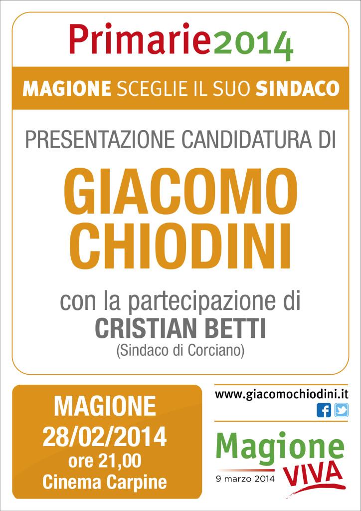 CHIODINI presenta candidatura primarie Magione 2014