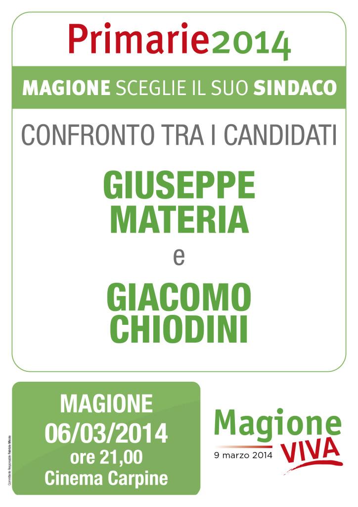 Primarie, a Magione il primo confronto tra i candidati Materia e Chiodini