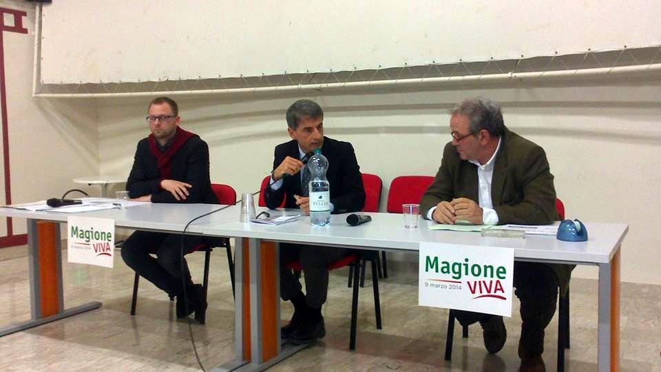 Primarie Magione, confronto tra Chiodini e Materia. Modera Riccardo Marioni marzo 2014