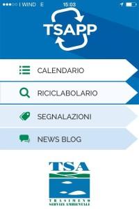 Tsaap, applicazione di Tsa per la differenziata