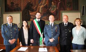 Convenzione Comune di Magione Guardia di Finanza su controlli Isee alla presenza del colonnello Issmi Dario Solombrino