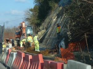 Sant'Arcangelo, lavori in corso per il consolidamento della frana vicino al vecchio pontile