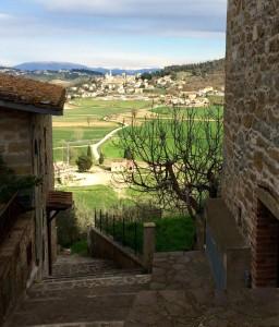 Solomeo visto da Vignaia, Agello Magione Corciano parcheggio centro storico - Copia