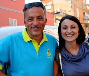 Festa Misericordia Magione, il fondatore Sergio Brozzi con l'assessore ai servizi sociali Eleonora Maghini, foto Alice Guerrini