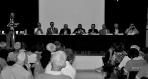 Festa dei venticinque anni della Misericordia di Magione, tavolo della conferenza di apertura. Foto Alice Guerrini