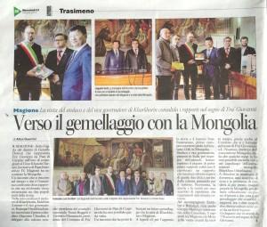 Il sindaco di Kharkhorin visita Magione, Alice Guerrini Corriere dell'Umbria