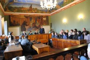 Protocollo antimafia Magione, il prefetto De Miro ed il sottosegretario Bocci a Magione1