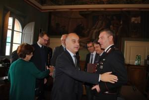 Protocollo antimafia Magione, il prefetto De Miro ed il sottosegretario Bocci a Magione2