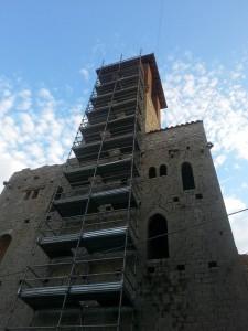 Torre campanaria di Agello, lavori di sistemazione