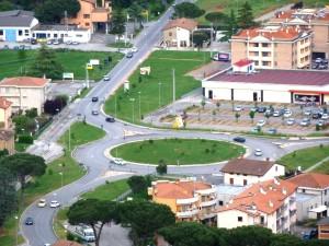 Rotonda Magione, rotatoria bivio Chiusi SR599 SR75bis