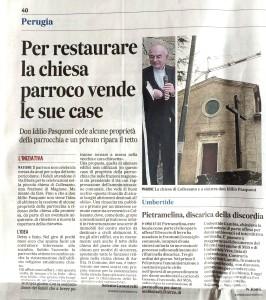 Il Messaggero Umbria, Selenio Canestrelli su Collesanto