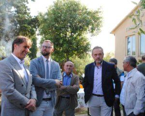Brunello Cucinelli, Giacomo Chiodini, Franco Chierico e Nazareno Annetti a Vignaia