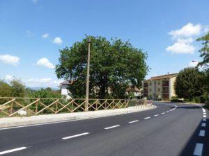 Santarcangelo di Magione, sistemazione strada regionale