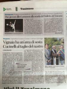 Vignaia, Cucinelli inaugura area sosta Alice Guerrini