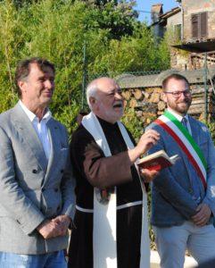 Vignaia, inaugurazione parcheggio con Brunello Cucinelli, padre Francesco e Giacomo Chiodini