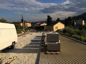Vignaia, lavori al parcheggio realizzato dal comune di Magione e dalla fondazione Cucinelli