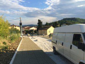 Vignaia, lavori in corso per la realizzazione del parcheggio