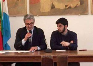 Adisu-Perugia-Maurizio-Oliviero-con-il-presidente-della-commissione-studenti-Dario-Sattarinia