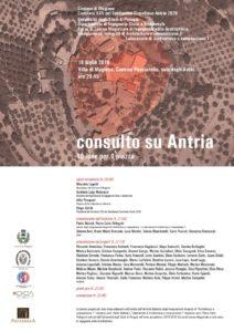 Consulto per Antria, la locandina dell'evento alla cantina Pucciarella