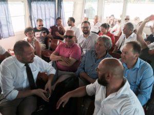 Unione dei Comuni, i sindaci del Trasimeno in battello verso Isola Maggiore