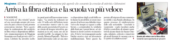 """Scuola media ad """"alta velocità"""" con fibra ottica   Giacomo ..."""